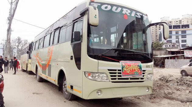 Bus for wedding or marriage purpose in Kathmandu, Nepal