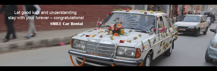Rent a car for Wedding in Kathmandu, Nepal