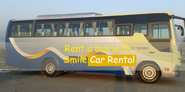 Rent a bus with smile car rental in Nepal