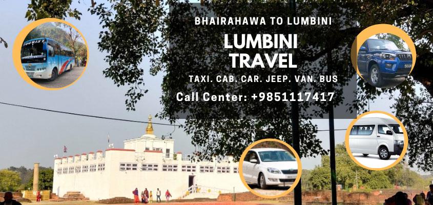 Bhairahawa to Lumbini Travel (Taxi, Car, Cab, Jeep, Van, Bus Service)