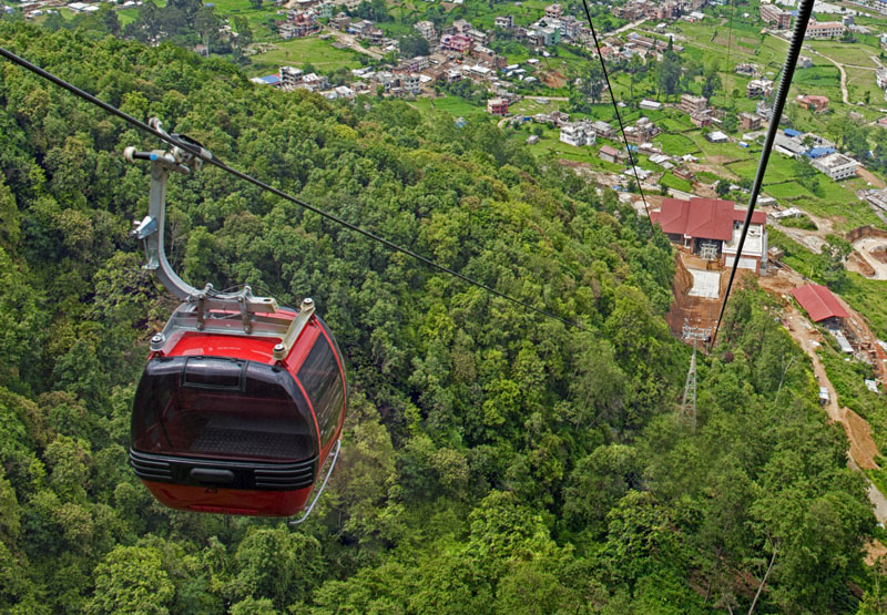 Chandragiri Cable Car visit by Car on Rent in Kathmandu