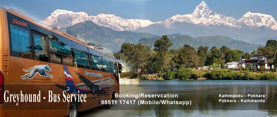 Greyhound Bus - Kathmandu to Pokhara
