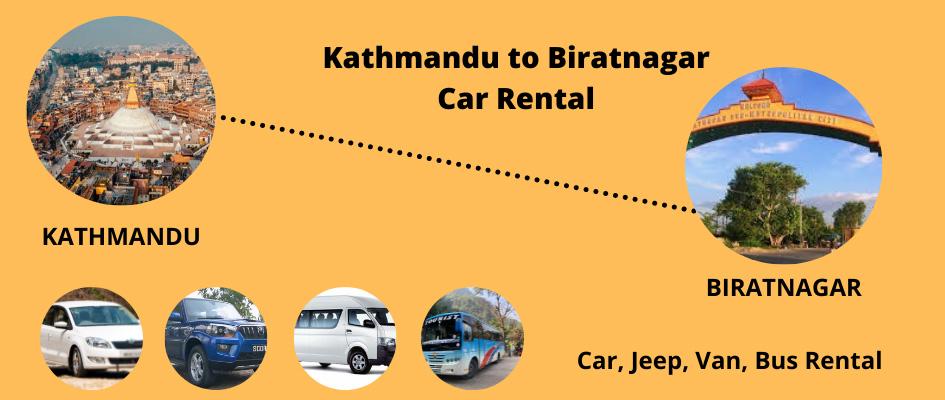 Kathmandu to Biratnagar car rental