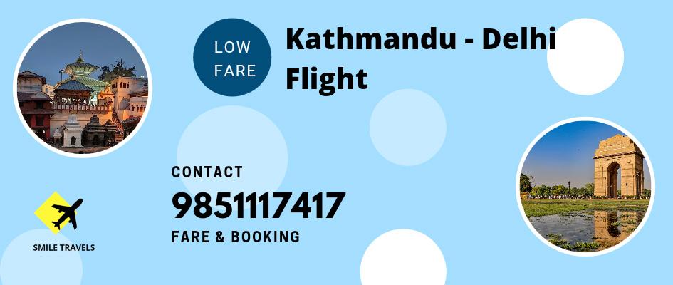 Kathmandu to Delhi Flight Ticket Booking