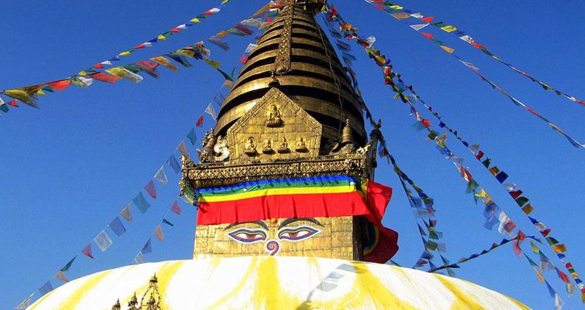 Swayambhunath Monkey Temple Sightseeing Kathmandu
