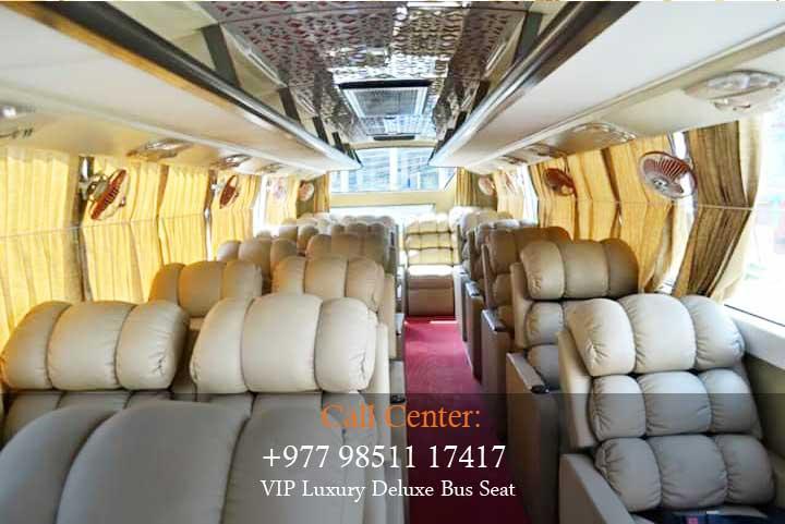 Kathmandu to Pokhara VIP Luxury Deluxe Night Bus Seat
